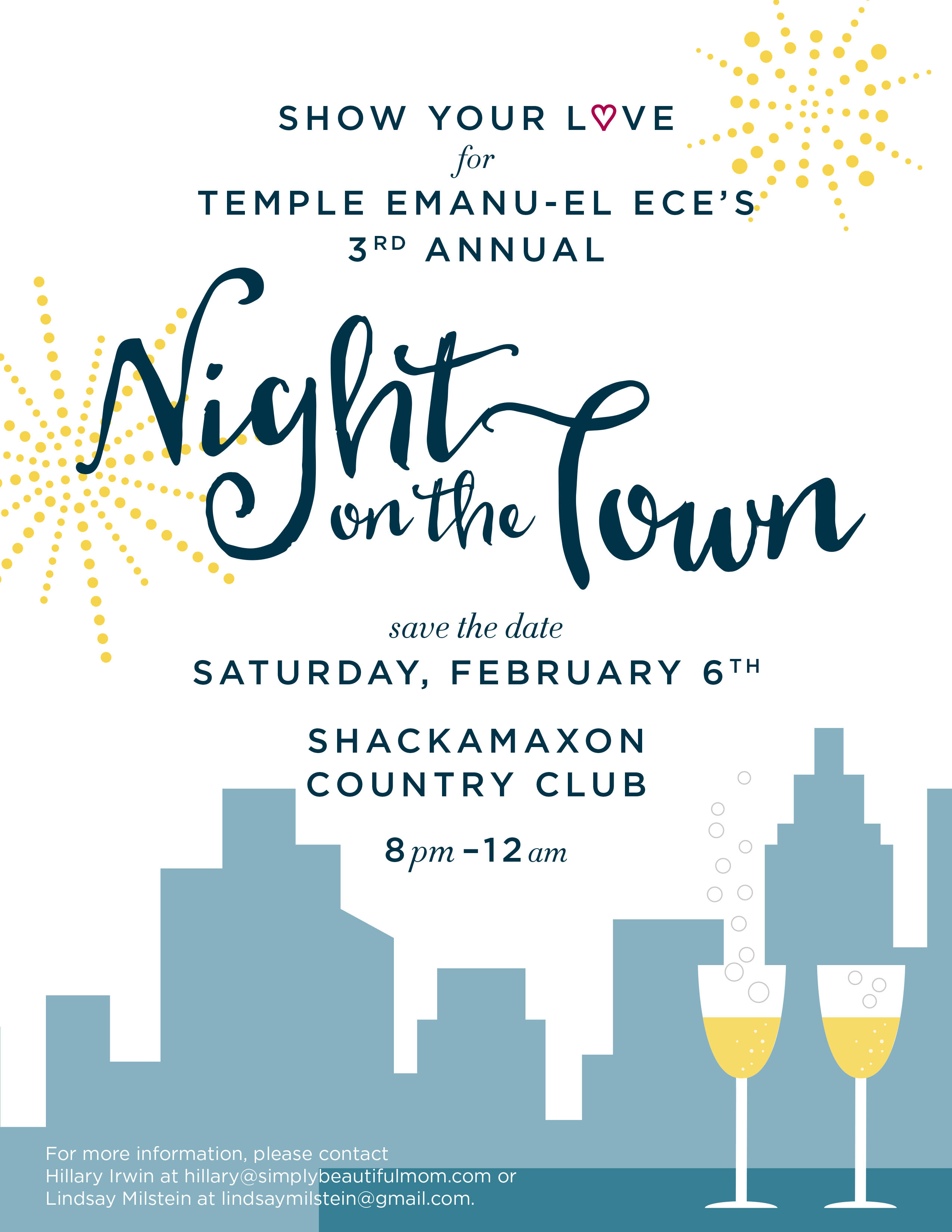 Save the Date Night on the Town 2016