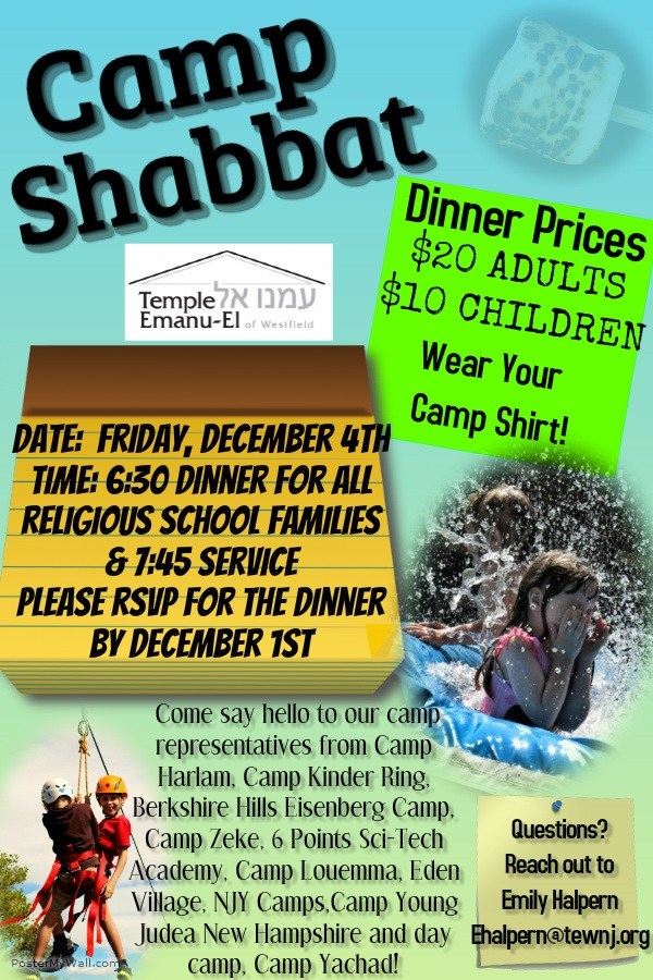 Camp Shabbat December 5th 2015