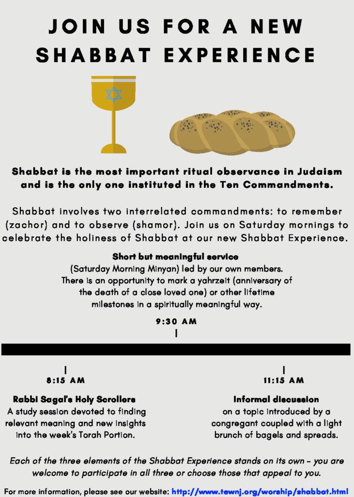 A New Shabbat Exper