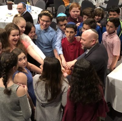 Rabbi with 6th grade