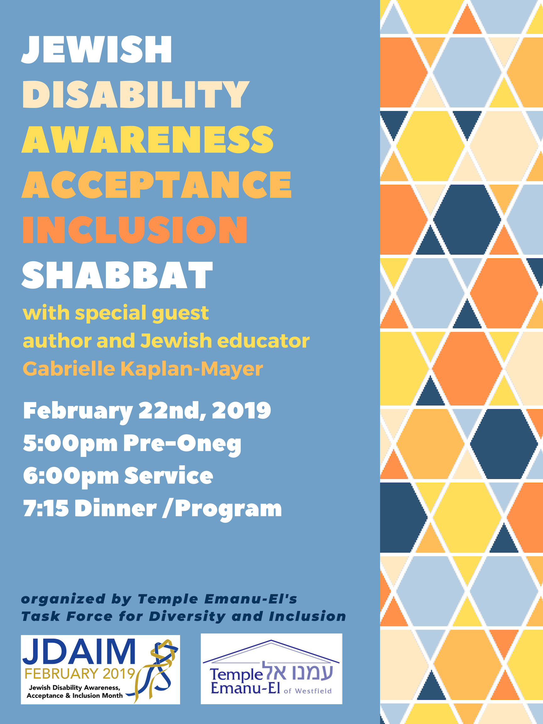 Awareness acceptance inclusion Shabbat (1)