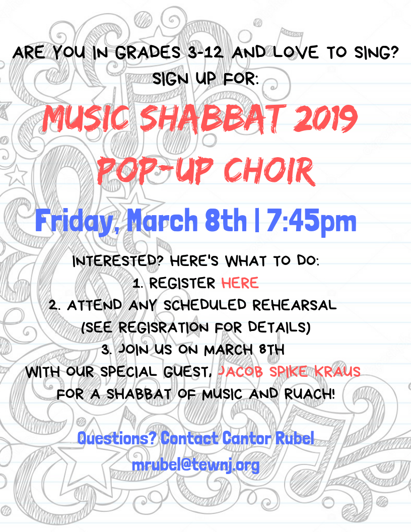 Music Shabbat 2019 Pop-Up Choir