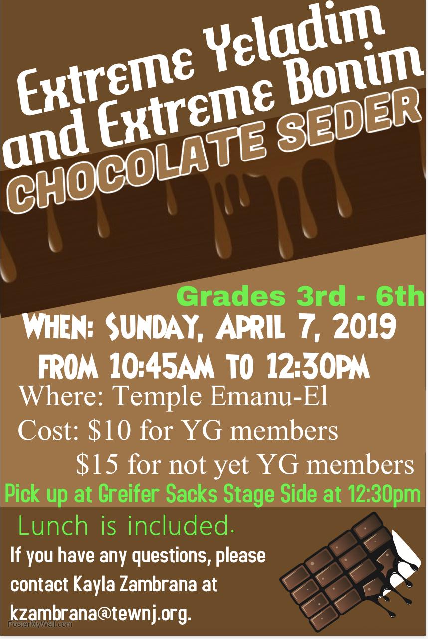 Passover Chocolate Seder