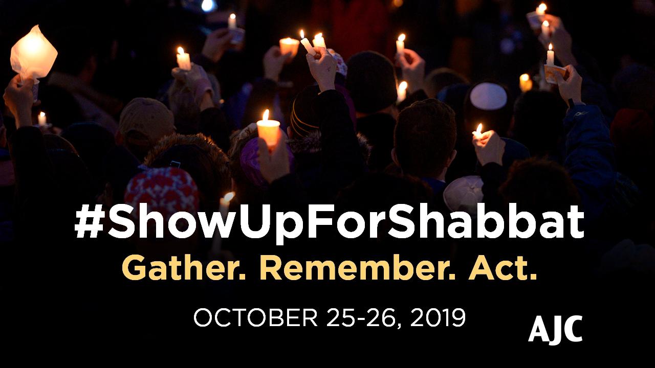 #ShowUpForShabbat Anniversary - Vigil Image Social