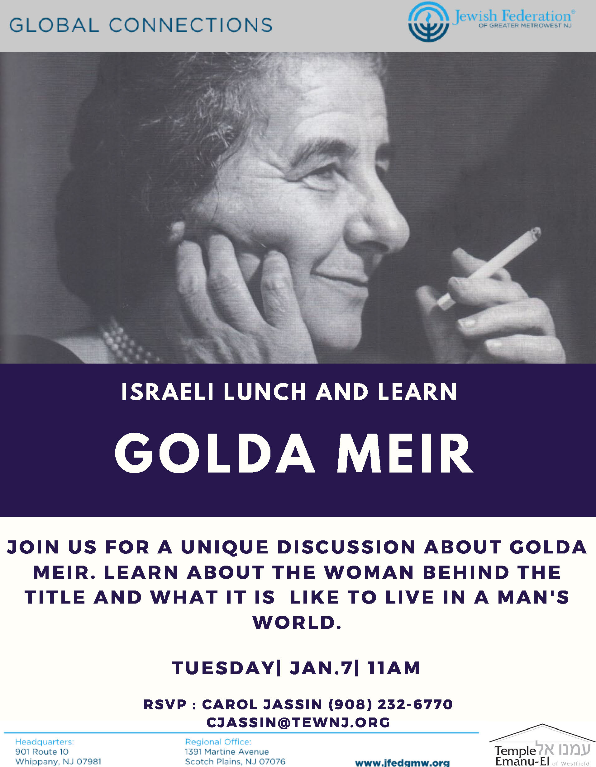 Israel Lunch and Learn - Golda