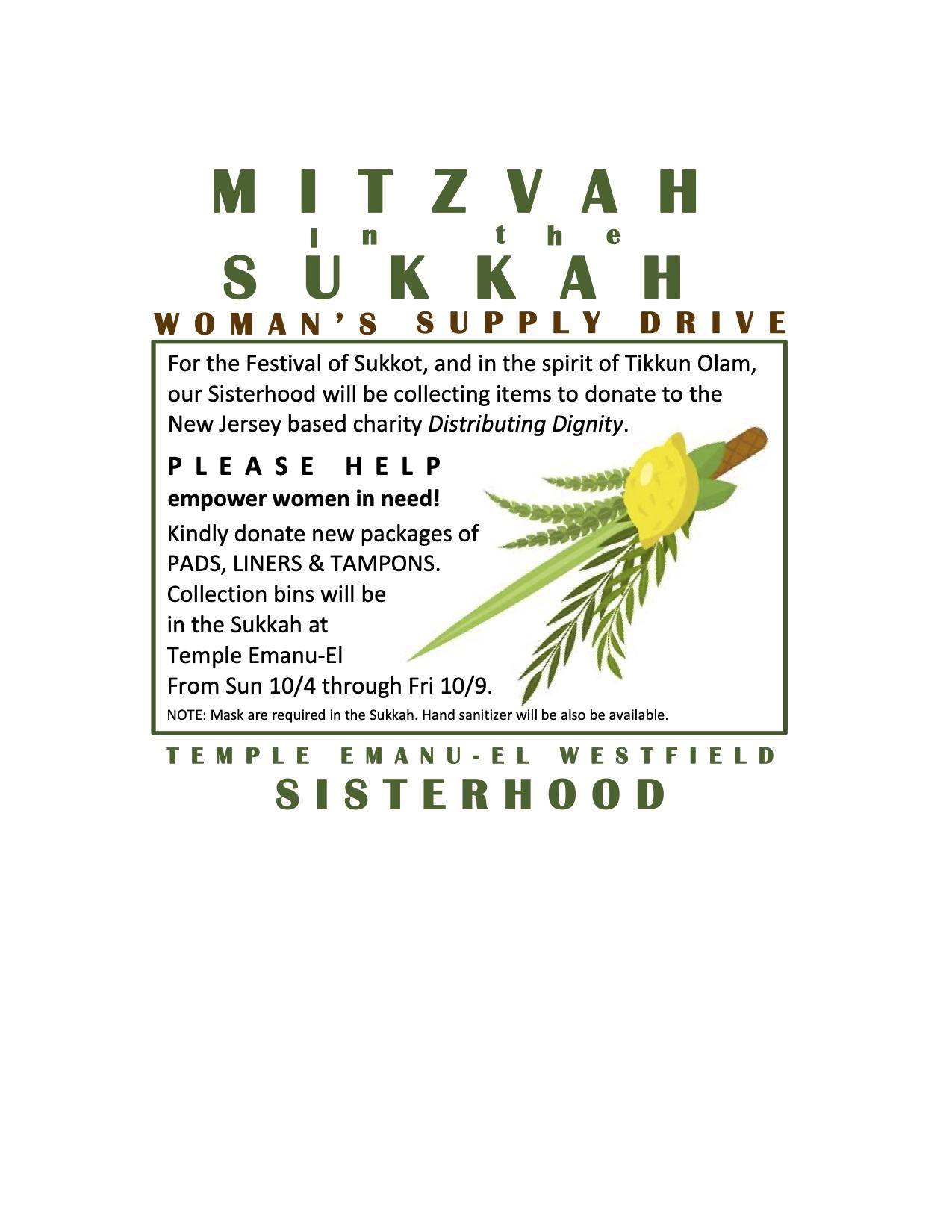 Mitzvah in the Sukkah