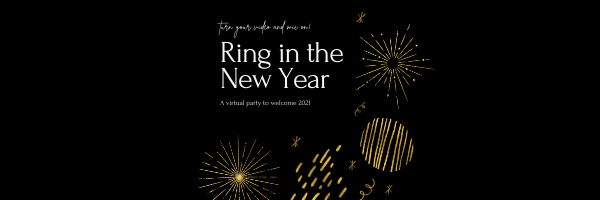Copy of Black Gold Foil New Year Party Invitation Instagram Post