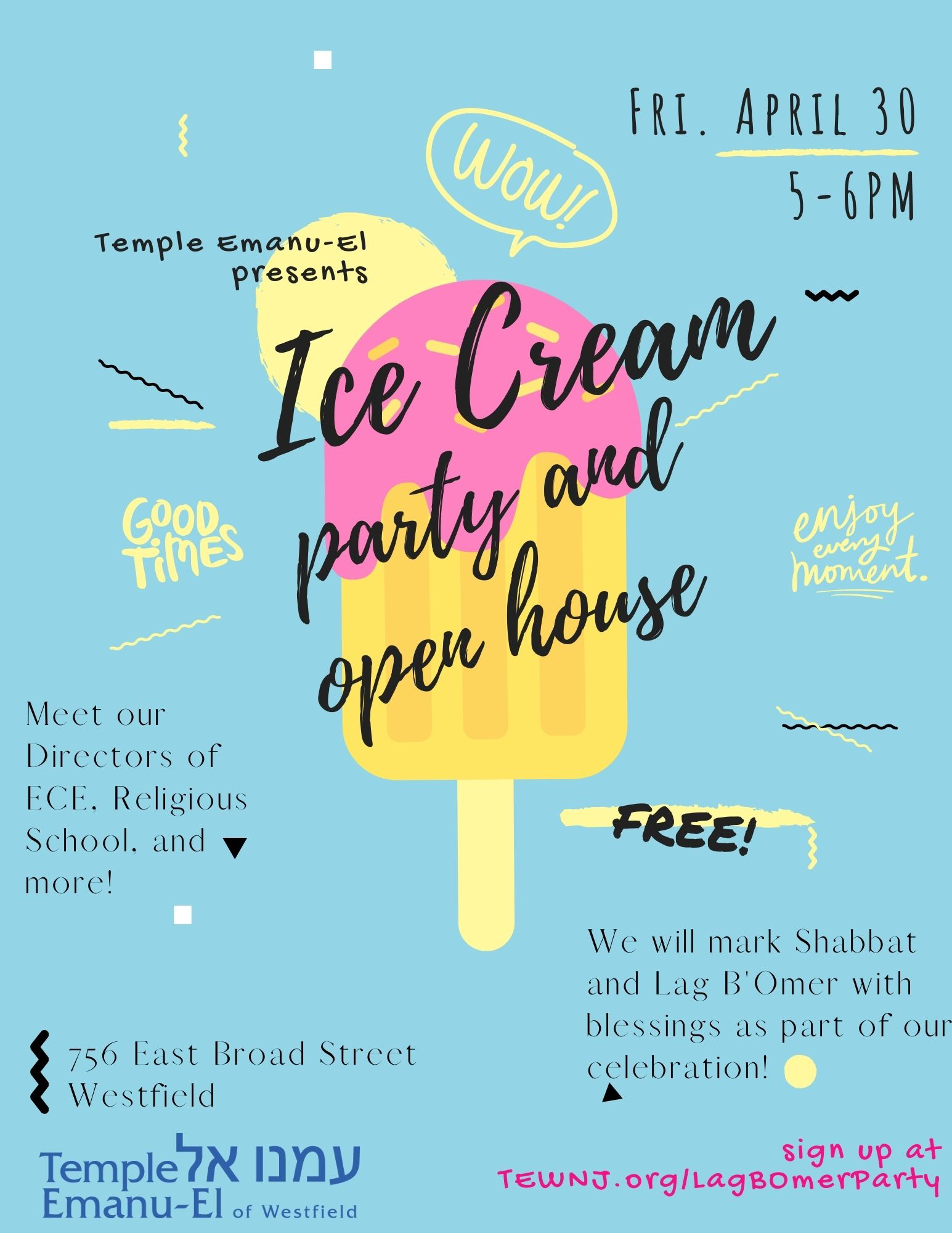 Ice Cream Party Flyer