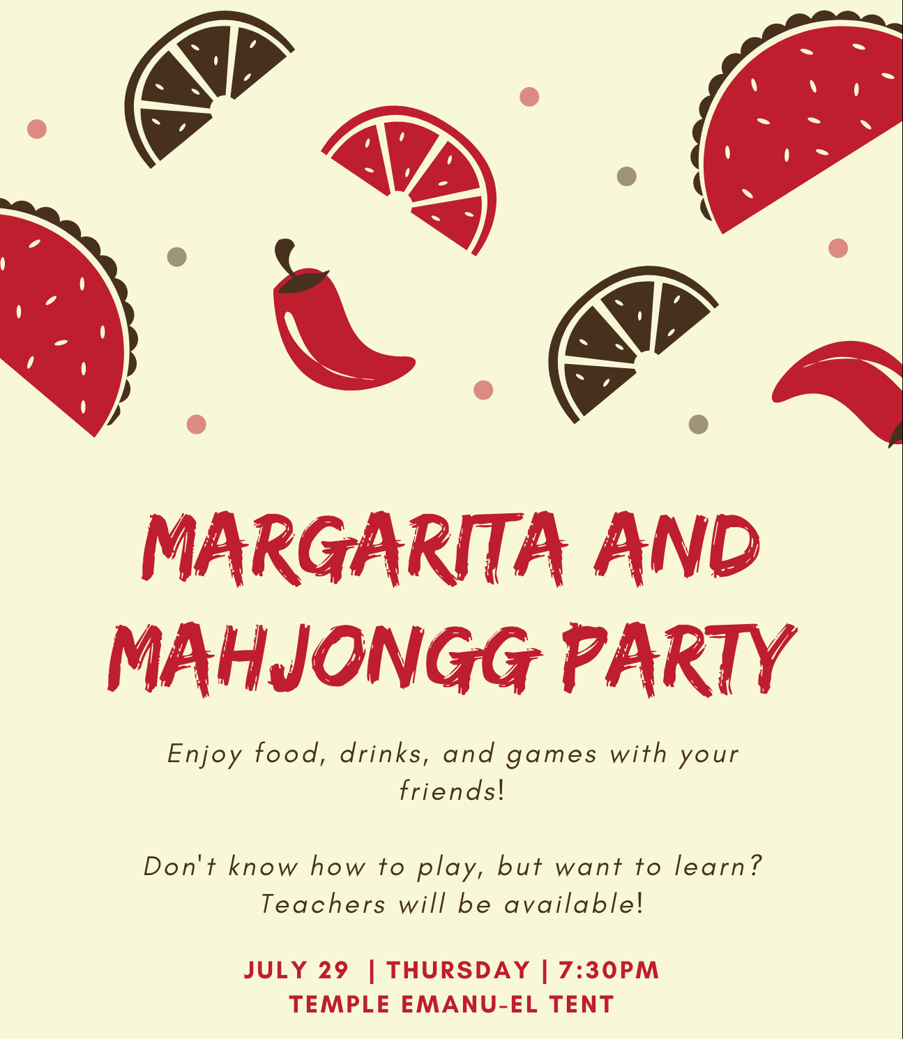 Margarita and Mahjongg Party