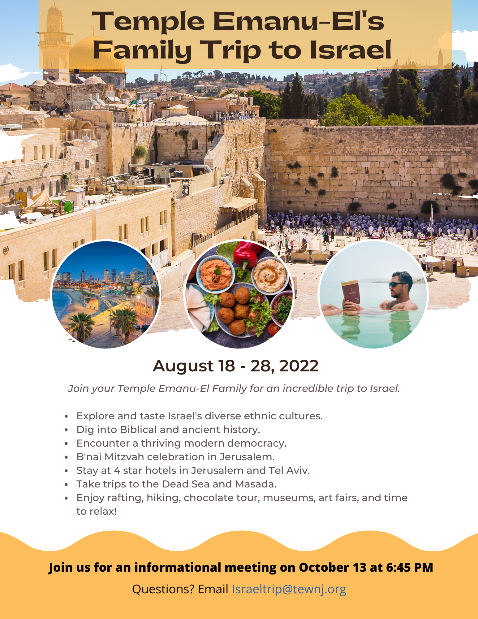 Family Trip to Israel (Flyer)