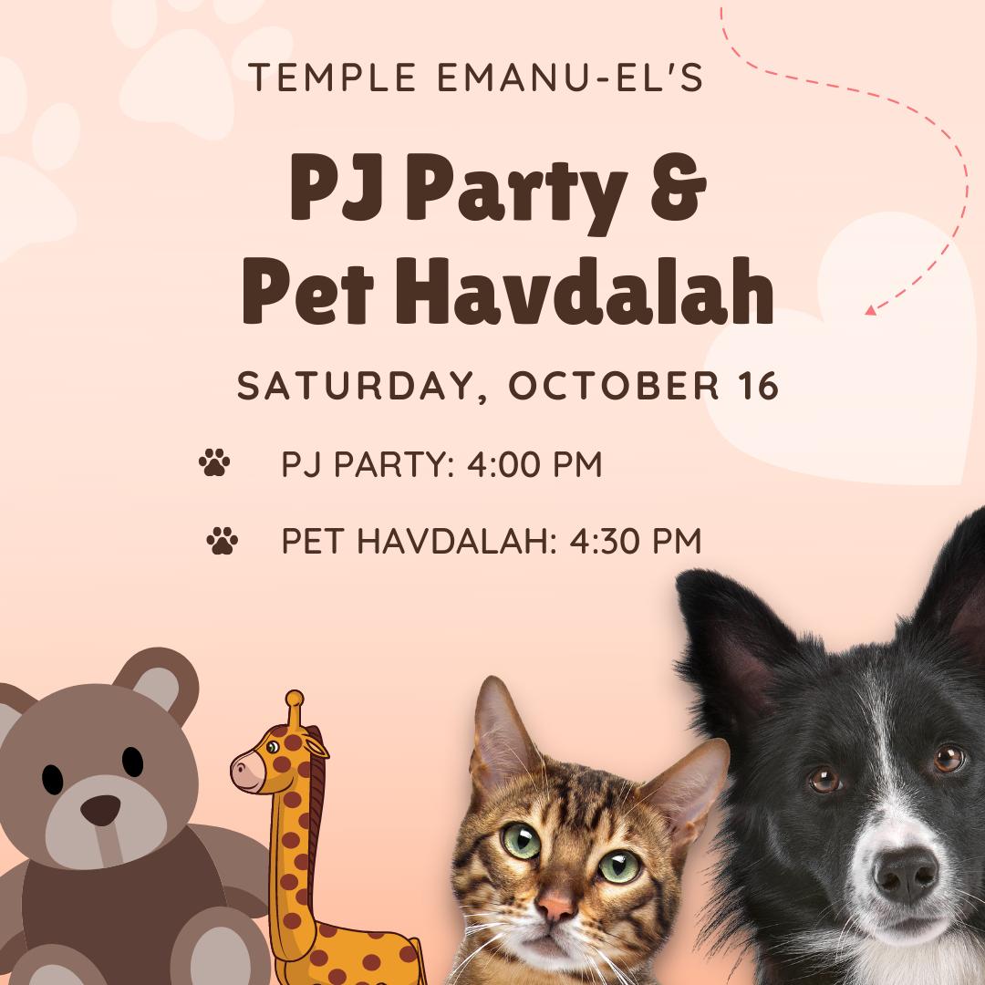 PJ Party and Pet Havdalah